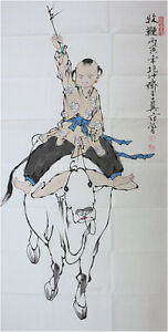 RARE-Chinese-100-Handed-Painting-By-Fan-Zeng-AW9