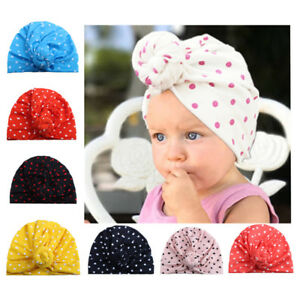 Toddler Infant Kids Baby Boy Girl Hats Turban Cotton Beanie Hat ... 441dcc00e23