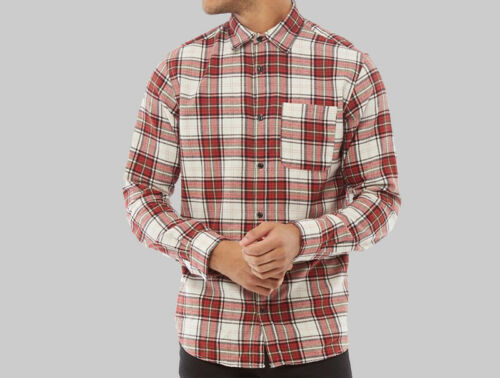 Mens Jack And Jones Button Shaped Long Sleeve Checked Shirt Sizes from S to XXL