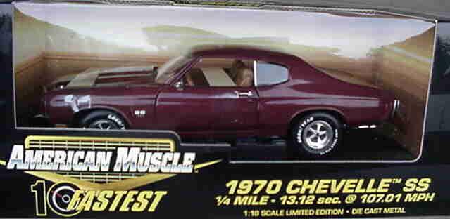1970 Chevrolet Chevelle Ss Negro Cereza 1 18 Ertl American Muscle 32758
