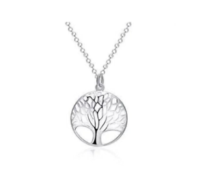 LADIES-925-STAMPED-STERLING-SILVER-TREE-OF-LIFE-PENDANT-NECKLACE-18-034-CHAIN-UK
