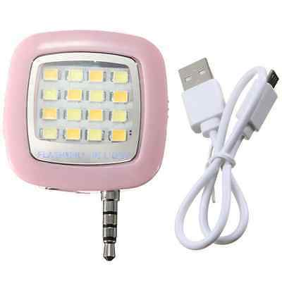 Portable Smartphone Phone Selfie Mini 16 LED Flash Fill Light For IOS Android hs