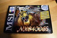 NEW MSI GeForce NX8400GS-TD256E 256MB 64-Bit GDDR2 PCI x16 Video Card NVIDIA