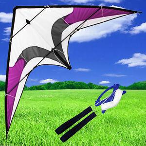 NEW-1-8m-70-Inch-Stunt-Kite-Dual-Line-Delta-Outdoor-Fun-Sports-Toy-kites