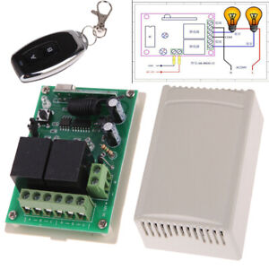 2-Channel-12V-433MHz-Learning-Code-RF-Wireless-Remote-Control-RC-Relay-Receiver