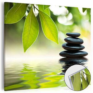 Neu Acrylglasbilder Bild Deko Glas Glasbild Natur Steine Wasser