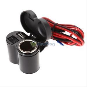 12V-Motorcycle-Cigarette-Lighter-Socket-5V-USB-Power-Charger-for-Cell-Phone-GPS