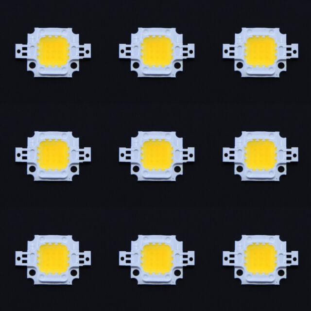 10 Pcs 30Mil 10W Warm White High Power LED Chip Flood Light Bead 1000LM 3000k