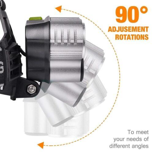 350000LM T6 LED Headlamp Headlight Head Torch Rechargeable Flashlight Work Light