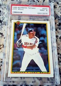 ALBERT JOEY BELLE 1990 Bowman TIFFANY SP Rookie Card RC PSA 9 Indians 381 HRs $$