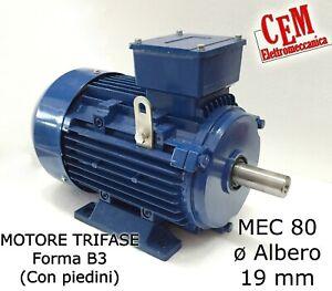 Motore elettrico 2 velocità 2800//1400giri HP 1,1//0,8 kW 0,8//0,6 Trifase 2//4 poli