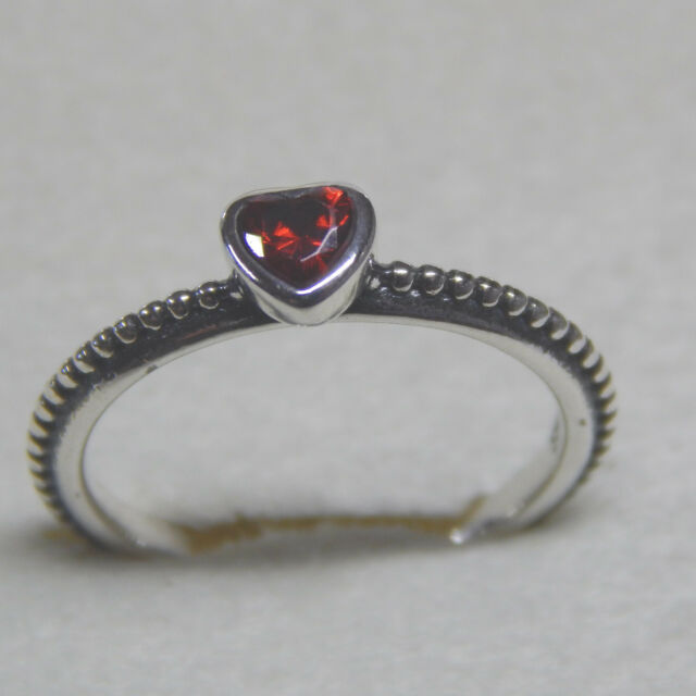 bcfdc4b4a ... discount new pandora ring one love red synt ruby heart size 56  190896sgr w tag suede ...