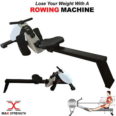 Heavy Duty Magnetic Rowing Cardio Workout Folding Rower Machine Body Toner