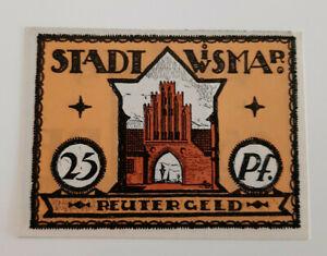 WISMAR-REUTERGELD-NOTGELD-25-PFENNIG-1922-NOTGELDSCHEIN-10742