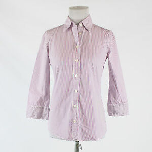 1ec59526 Purple and white striped 100% cotton J. CREW 3/4 sleeve button down ...