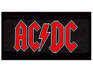 Ac-Dc-Rojo-sobre-Logo-Negro-para-Coser-Tela-Parche-mm