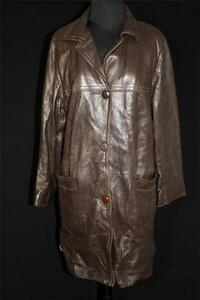 RARE-VINTAGE-1960-039-S-WOMAN-039-S-DARK-BROWN-DEERSKIN-WISCONSIN-MADE-COAT-SIZE-MEDIUM