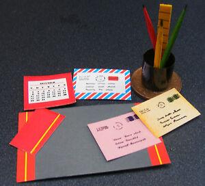 1-12-Echelle-Papeterie-Ensemble-Tumdee-Maison-de-Poupees-Miniature-Accessoire