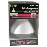 6- Philips Halogena 60 Watt R40 Indoor Halogen Flood Light Bulbs Br40 Bright