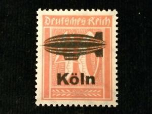 Deutsches-Reich-1921-MiNr-182-Ziffern-privater-Aufdruck-Zeppelin