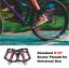 "9//16/""MTB Road Bike Flat Pedals ROCKBROS Aluminum Non-Slip Sealed Bearing Pedals"