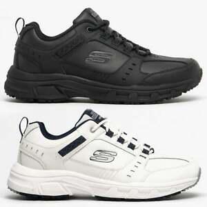 Skechers-OAK-CANYON-redwick-para-hombres-Cuero-Memory-Foam-Correr-Zapatillas-Con-Cordones