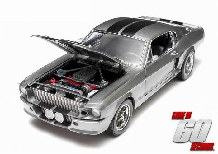 FORD MUSTANG Shelby GT500 Eleanor 1967 60 Secondes Chrono vertLIGHT 1 18