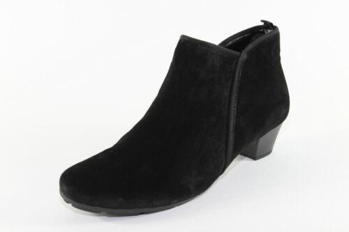 Gabor 633.17, Stiefeletten aus schwarzem Veloursleder, Damenschuhe *Übergröße*
