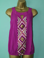 Brand New EX Wallis Ladies Purple Sequence Summer VEST Top BLOUSE  Size 8 -16