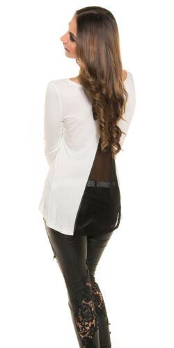 Bluse mit Netz und Schleife Koucla Shirt Top Shirt