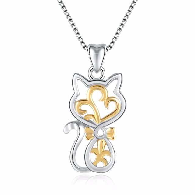 European 925 silver charms gold cat pendant for sterling necklace european 925 silver charms gold cat pendant for sterling necklace beauty jewelry aloadofball Gallery