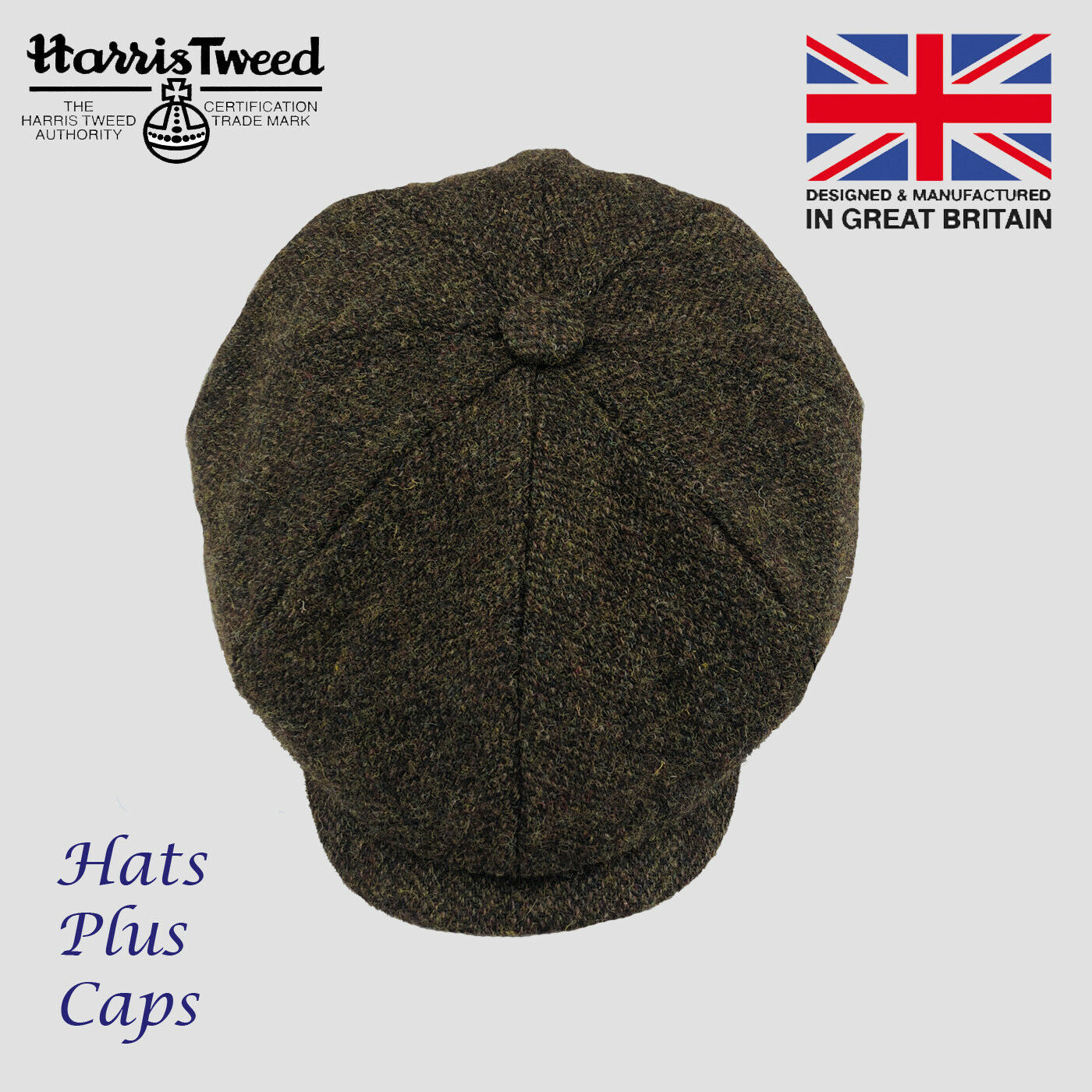 5859dd578 Scott Harris Tweed Newsboy Peaky Blinders Cap Grey Black Olive Brown Gatsby  Hat