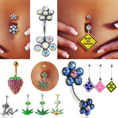 Crystal Dragon Snake Navel Ring Belly Button Rings Dangle Body Piercing Jewelry Ebay