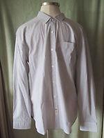 Mens Marc Ecko Cut&sew Gray Pinstripe Ls Dress Shirt $59 Logo Pocket Xxl 2xl