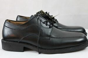 men's tansmith black leather lace up comfort casual