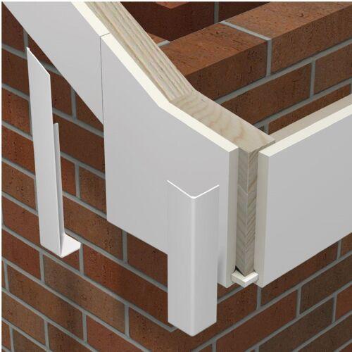 Grand Plastique Fascia Board droite assemblage bout à bout blanc 400 mm bord arrondi profil