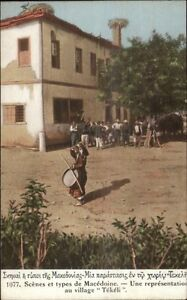 Macedonie-Macedonia-Greece-Village-Tekeli-c1915-Postcard