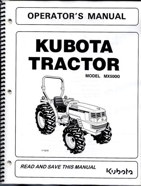 kubota mx5000 tractor plus loader operator\u0027s manuals set of 2 Kubota Starter Diagram
