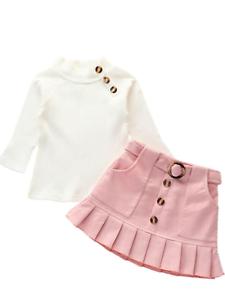 Baby Toddler Girls Pink Skirt and Top Set