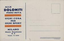 """#MILANO: """"ALLE DOLOMITI""""  DI PIERO ROTA- CART. PUBBLICITARIA"""