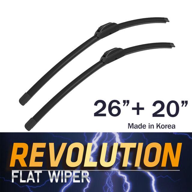"REVOLUTION 26"" + 20"" Flat Wiper Blades U-HOOK For Acura"