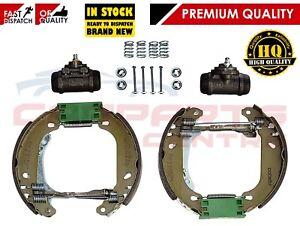 Para-Peugeot-206-Zapatos-de-Freno-Trasero-Conjunto-Ajustador-De-Rueda-Cilindro-amp-Kit-De-Montaje-98