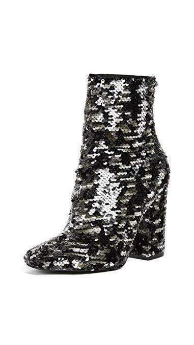 Kendall + Kylie Mujer 8.5 haedyn Bloque Talón Tobillo botas secuencia Textura