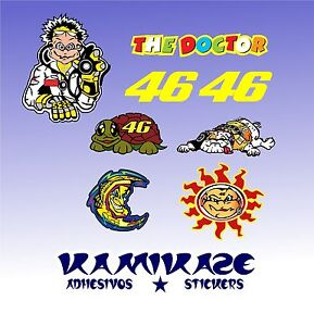 Details About Adhesive Sticker Sticker Autocollant Adesivi Aufkleber Kit Valentino Rossi 46