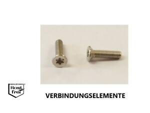 25 Stück M1,6 X 10 Torxschrauben Senkkopf DIN 965 A2