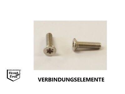 50 St M2X8 Kreuzschlitzschrauben DIN965 rostfrei A2 M2