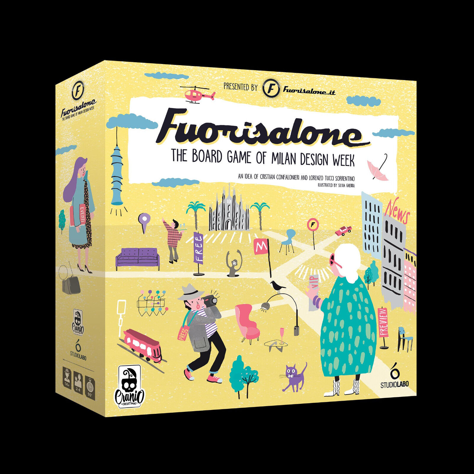 Fuorisalone, jeu de société, New by Cranio Creations, Multilingue Édition