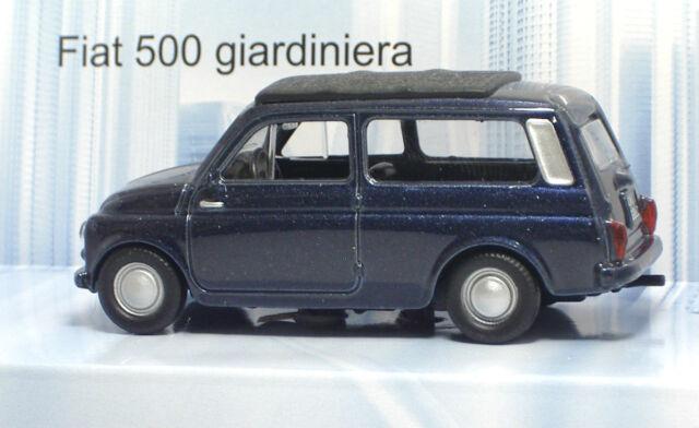 MondoMotors 53140 FIAT 500 Giardiniera - METAL Scala 1:43
