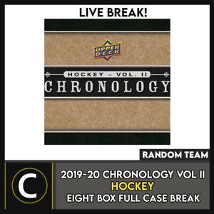 2019-20-UPPER-DECK-CHRONOLOGY-HOCKEY-8-BOX-FULL-CASE-BREAK-H979-RANDOM-TEAMS