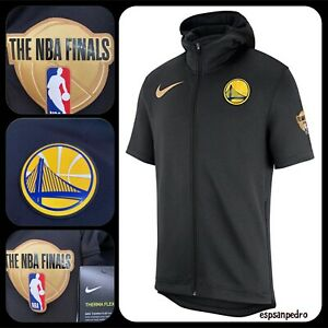Nike-NBA-Golden-State-Warriors-2018-finale-Therma-Flex-Sweat-a-Capuche-Moyen-AH4003-010
